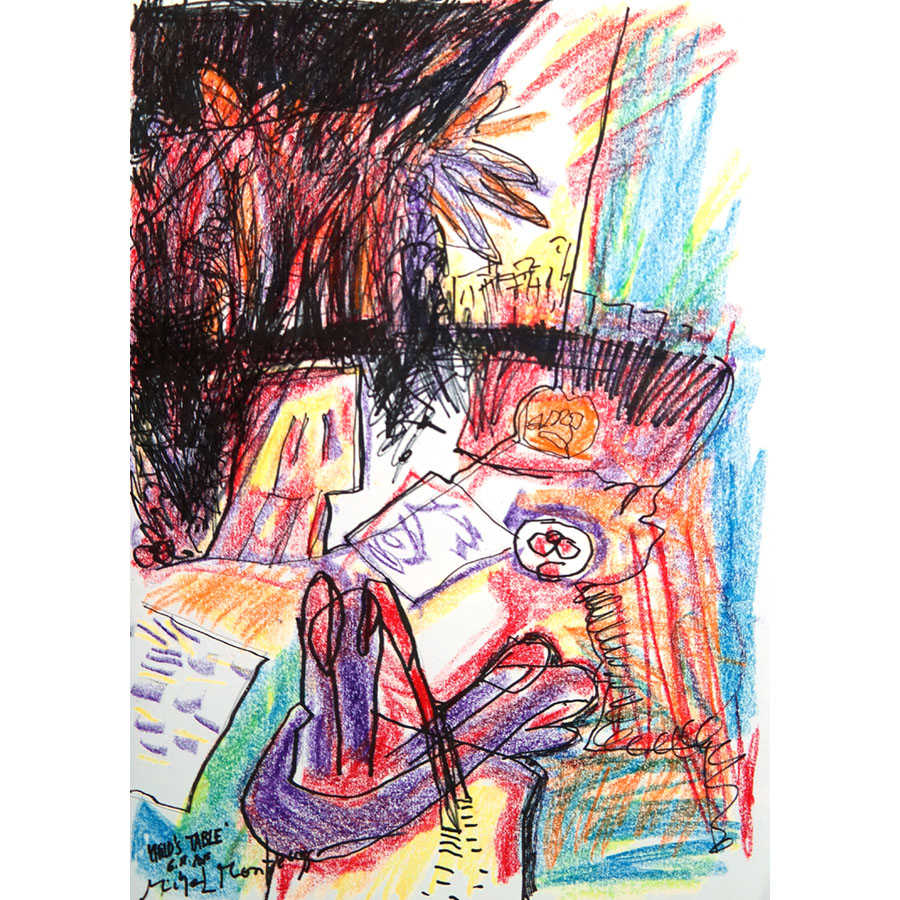 It's all about the Spirit of #Woodstock feeling: music & more .. #drawing by Michel #Montecrossa 'Child's Table' #Montecrossa #child #table #artwork #art #fineart #artforsale #contemporaryart #artist #waxcrayon #SpiritofWoodstock #rtArtBoost #rtItBot #MuseBoost  @artsharewlucy