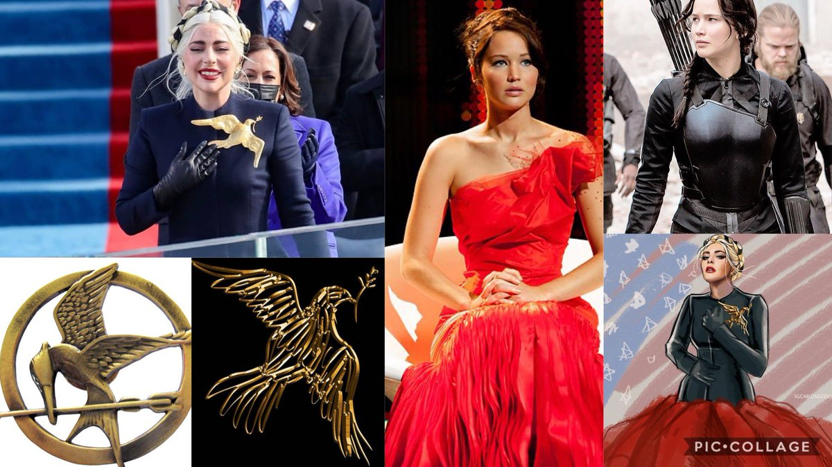 """""""We fight, we dare, we end our hunger for justice"""" #CelebratingAmerica #LadyGaga #HungerGames"""