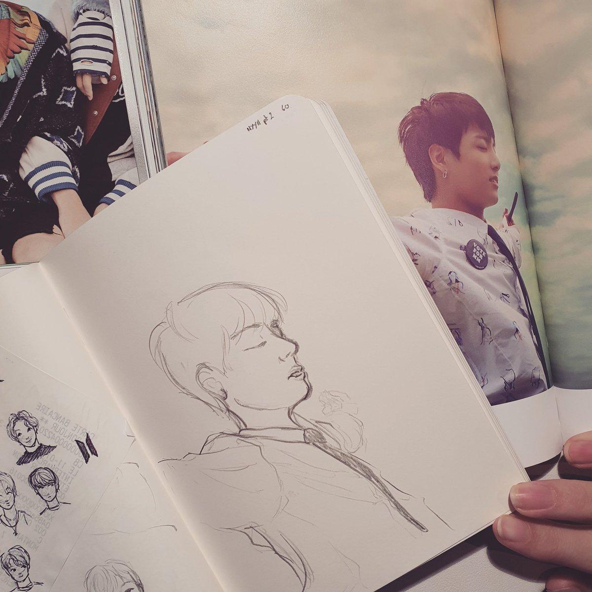 Poor Jk looks like he hit a wall ^^' #jungkook #jeonjungkook #btsjungkook #bts #bangtansonyeondan #btsfanart #sketch #sketchbook #drawing #art #bangtan #onebangtanaday #baguettesarmysxart #hyyhpt2 #hyyh #themostbeautifulmomentinlifept2