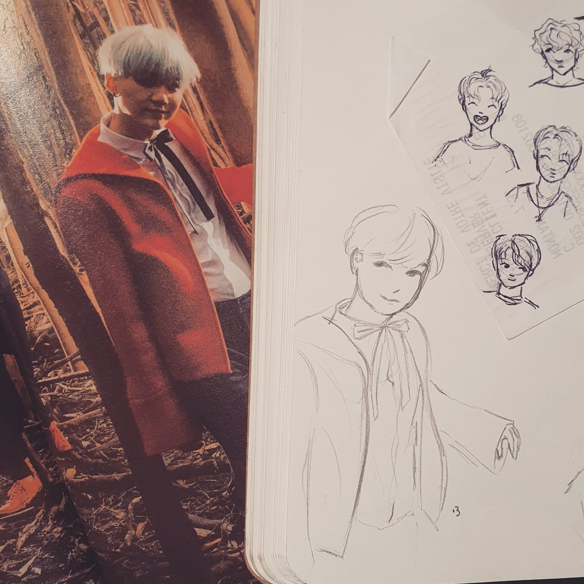 A cute little Yoongi, but not round enough I'd say #minyoongi #yoongi #suga #btssuga #bts #bangtansonyeondan #btsfanart #sketch #sketchbook #drawing #art #bangtan #onebangtanaday #baguettesarmysxart #hyyhpt2 #hyyh #themostbeautifulmomentinlifept2