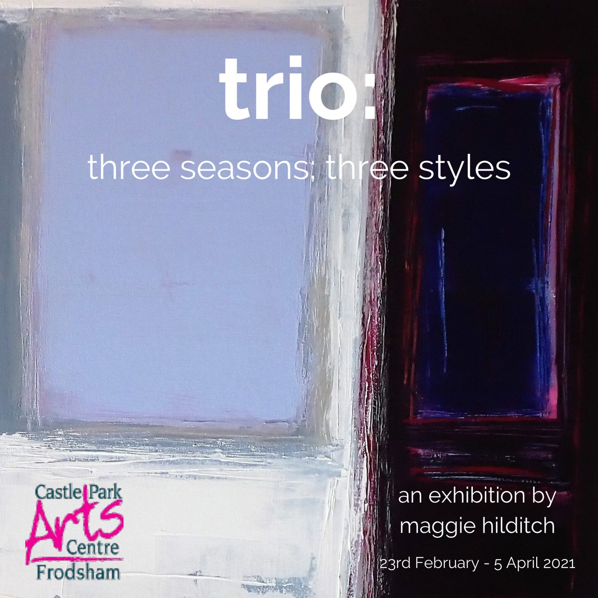 Trio: three seasons, three styles. Going ahead with this #exhibition and hoping Lockdoown will end soon! If not a selection of my #art will be on their website! #painting #drawing