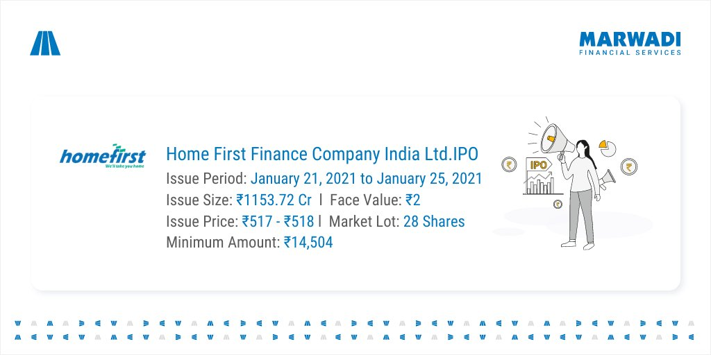 IPO Alert! Home First Finance Company India Ltd IPO is now open for subscription Opens on Jan 21, 2021 Closes on Jan 25, 2021 To Apply, connect with MSFL now  #homefirst #freedom #IPO #sensex #nifty50 #Nifty #stocks #thursdayvibes #ipo2021 #investors #thursday #India  #MSFLIndia