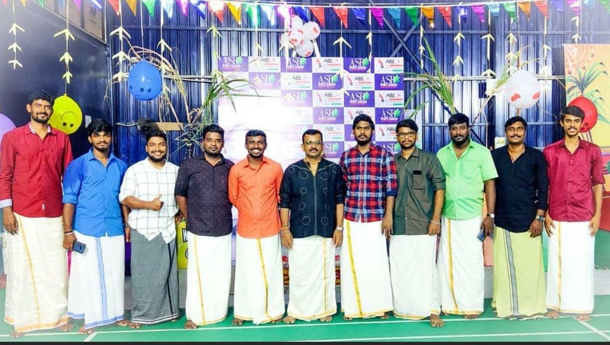 ABL Pongal celebration with  coachs   #Badminton  #2021calendar  #team #Picoftheday  #Inaguration #pongal #trending #games #Shuttle #Fun #tournament #Winners #BadmintonwithASR