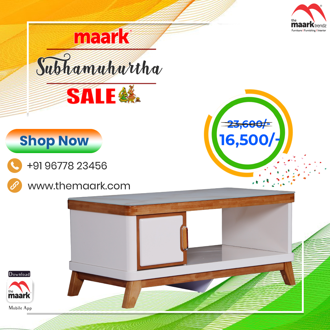 Make your family occasion more special with Maark Subhamuhurtha Sale. CoffeeTable Save upto 50% Enhance your lifestyle with The Maark. Visit : http//: to choose among 2000+ range.. or call : 9677823456 #Maark #Coffeetable#Subhamurtha Sale #Pongal