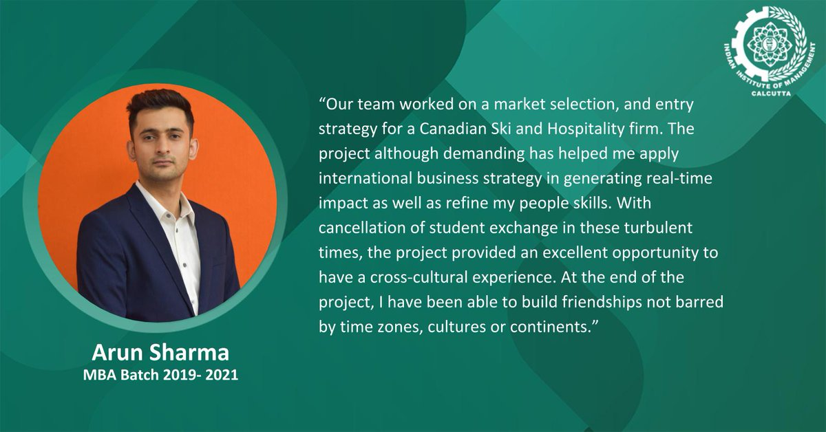 We are delighted to share that Arun Sharma has been awarded the Best Team Award, at X-Culture 2020-2b, a global student collaboration project, and competition, for his ability to provide strategic decision making solutions for SkiBig3, Canada. Congratulations Arun! https://t.co/U58l5IoFkU