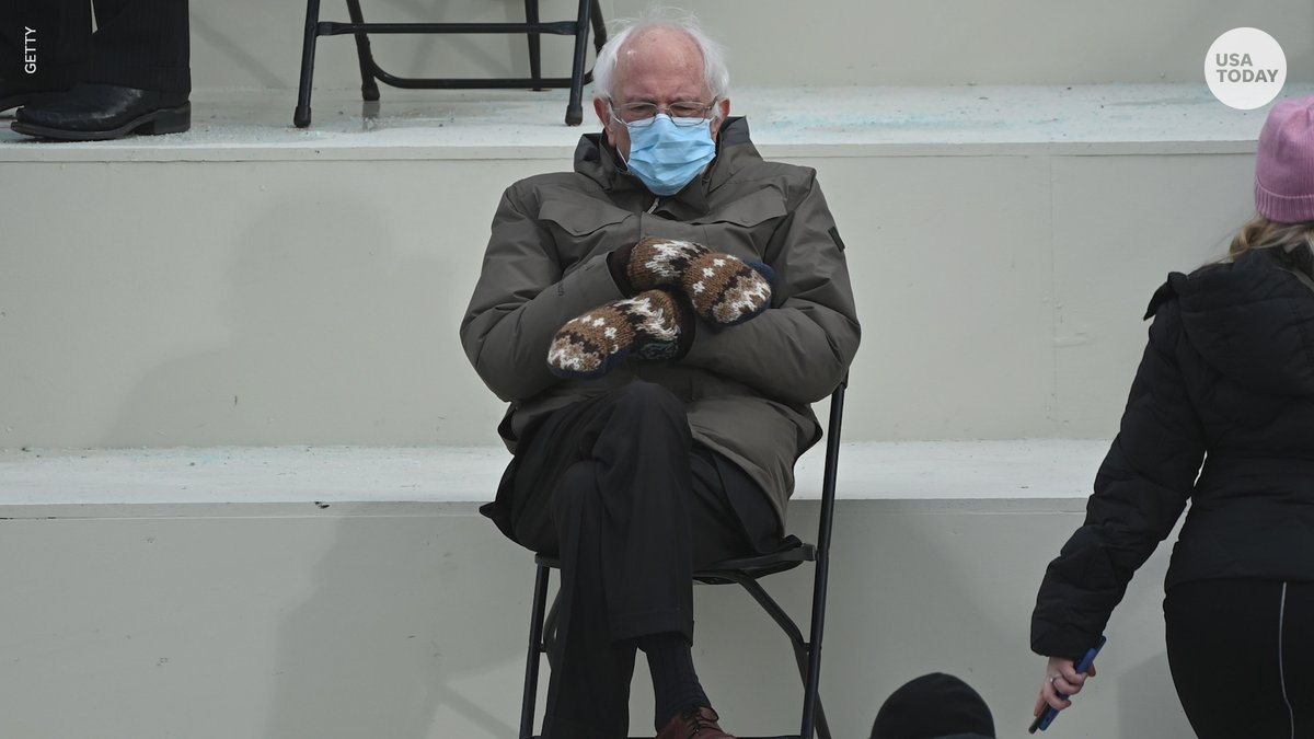 Bernie Sanders' mittens, colorful coats - these were the biggest viral moments from #InaugurationDay