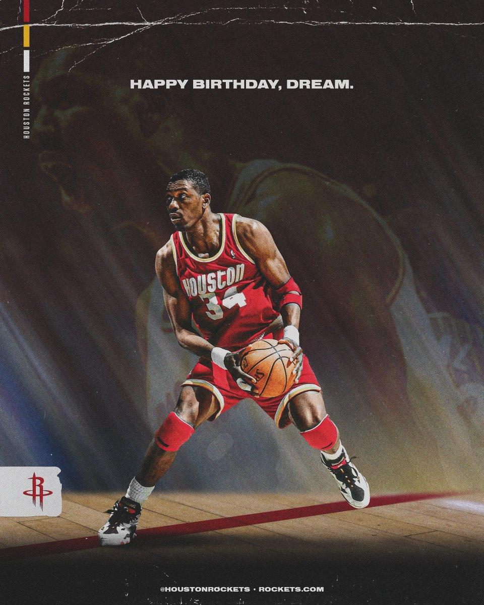 RT to wish #Rockets Legend Hakeem Olajuwon a Happy Birthday! 🐐