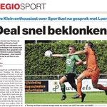In @AD_GroeneHart: Deal snel beklonken. Tommy de Klein enthousiast over @Sportlust na gesprek met trainer Patrick Loenen