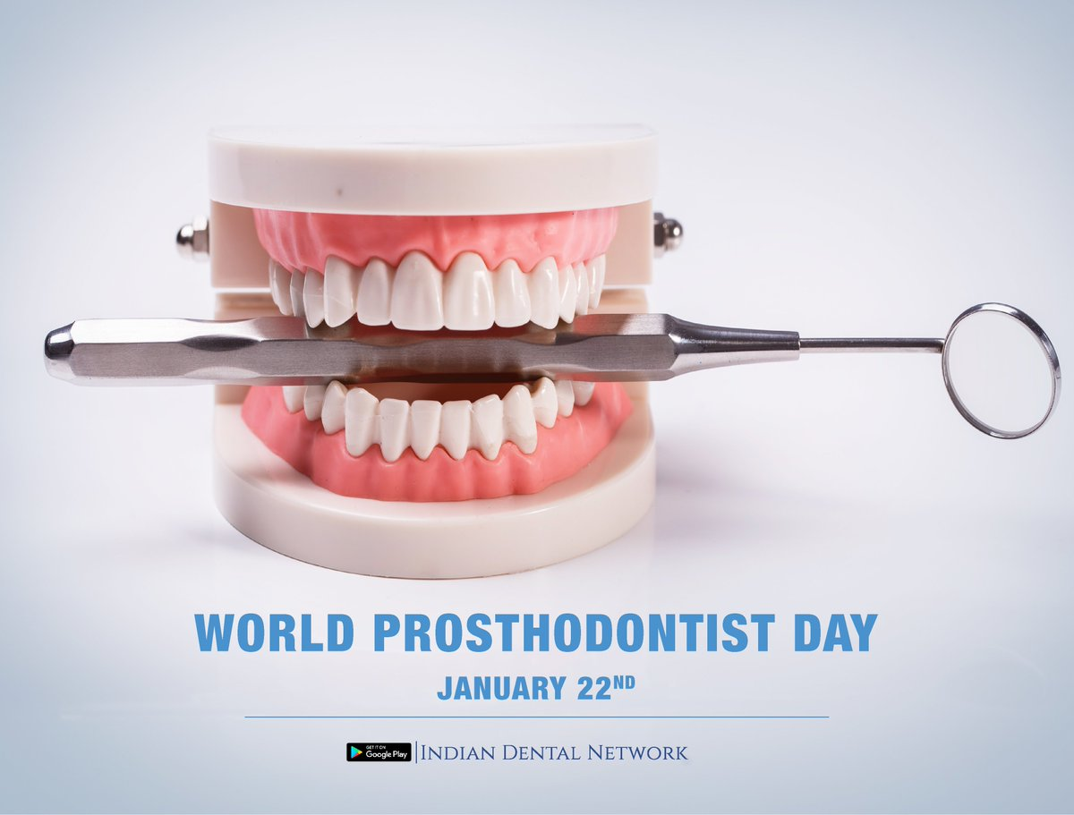 God creates smiles, a prosthodontist recreates them  #WorldProsthodonticsDay #WorldProsthodonticsDay2021 #ProsthodonticsDay #Prosthodontics #Smile #Happy #IndianDentalNetwork