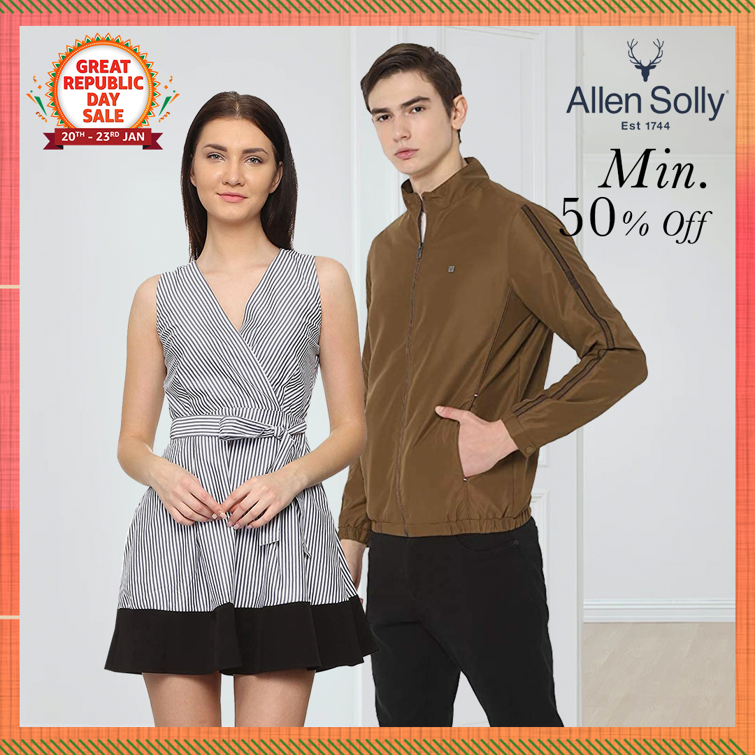 Get set to impress with stylish & smart clothing from @AllenSolly! Shop now & get min. 50% off on their wide collection only at the #AmazonGreatRepublicDaySale:  . . #AllenSolly #Apparel #NewBeginningBigSavings #Sale #AmazonFashion #HarPalFashionable