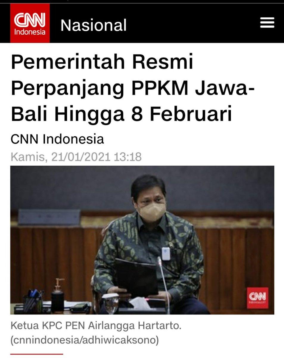 إندونيسيا 🇮🇩 : مددت الحكومة رسمياً سن القيود على الأنشطة المجتمعية (PPKM) Jawa - Bali  لمدة أسبوعين من 25 يناير إلى 8 فبراير 2021م🔥 #اندونيسيا #جاكرتا #جاوا #بالي #بونشاك #كورونا #كوفيد_19 #لقاح #سينوفاك #السعودية #جدة #الرياض   #فايزر  #Vaksin #jokowi #Indonesia #ppkm #Sinovac