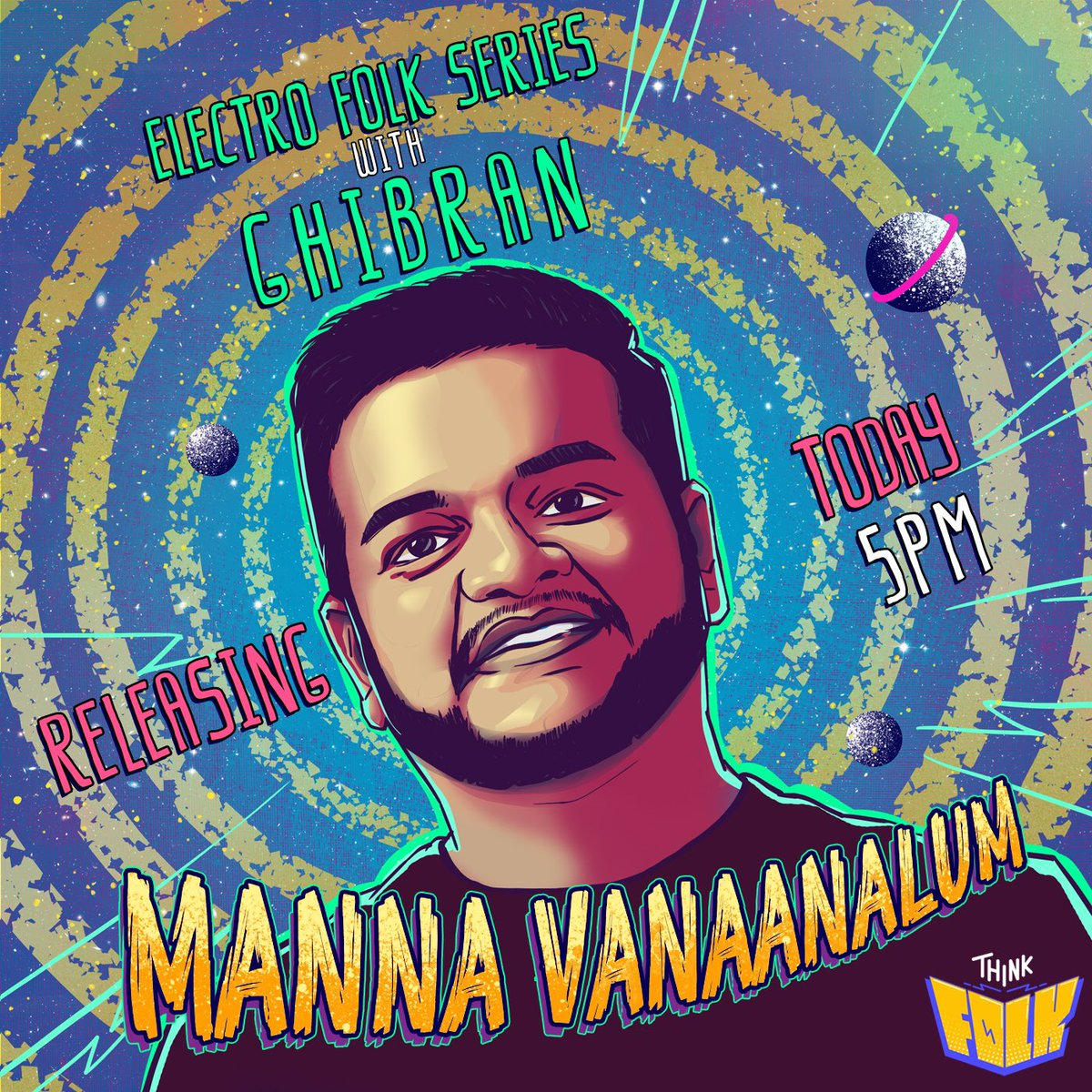 Fans , Are you ready to experience folk music like never before !! #ThinkFolk 🤔🥁   ®️edefining Folk Music  ! The First Track #Mannavanaanalum from #ElectroFolkSeries with @GhibranOfficial releasing today at 5 PM !
