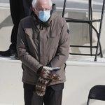 Image for the Tweet beginning: #BernieSanders in his mittens because