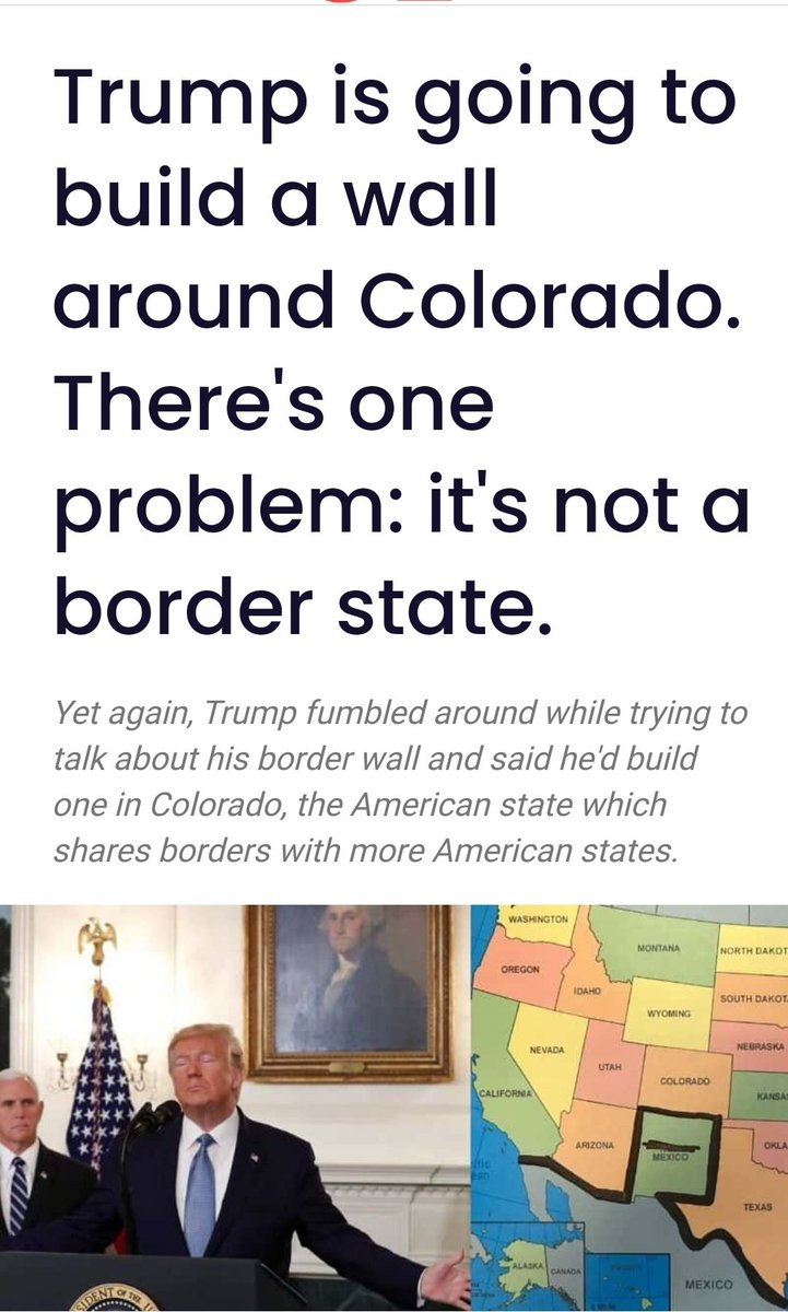 #ThingsImGonnaMissAboutTrump Building that wall around Colorado