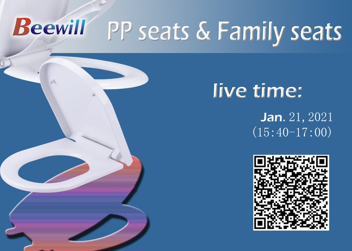 Today! Now! (15:40-17:00) Jan. 21, 2021  Alibaba online Trade Show  Meet with Beewill in real time and see our product- PP seats & Family seats    #Alibaba #Bathroom #Toiletseat #Toilet #Toilets #Toiletseats #Ceramic #Sanitary #WC #WCsitz #WCseat #WCseats