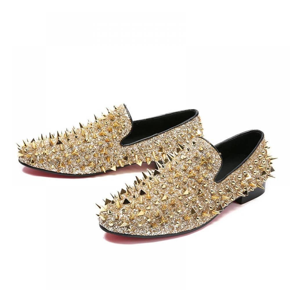 Men's Shiny Loafer Shoes #dress #tbt