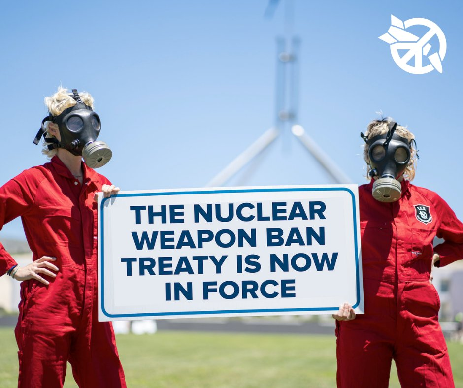 Nuclear weapons have always been immoral. Now, they are illegal. Today we are celebrating, and we are determined: Australia must sign and ratify the #nuclearban. https://t.co/hmRvjl45Ht