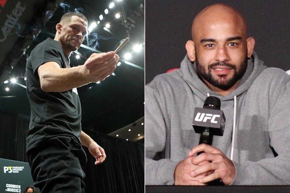 Warlley Alves explains Nate Diaz callout at UFC on ESPN 20: 'He's a bad example'   #UFCvegas14 #UFC255 #UFCFightnight #MMA #UFC https://t.co/q2zg1ss1uV