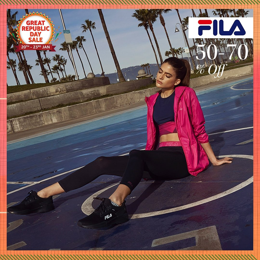 Get the edge on both performance & style with footwear & clothing from #Fila! Cop their latest trends from the at 50-70% off at the #AmazonGreatRepublicDaySale:   #FilaIndia #Shoes #Footwear #NewBeginningBigSavings #Sale #AmazonFashion #HarPalFashionable