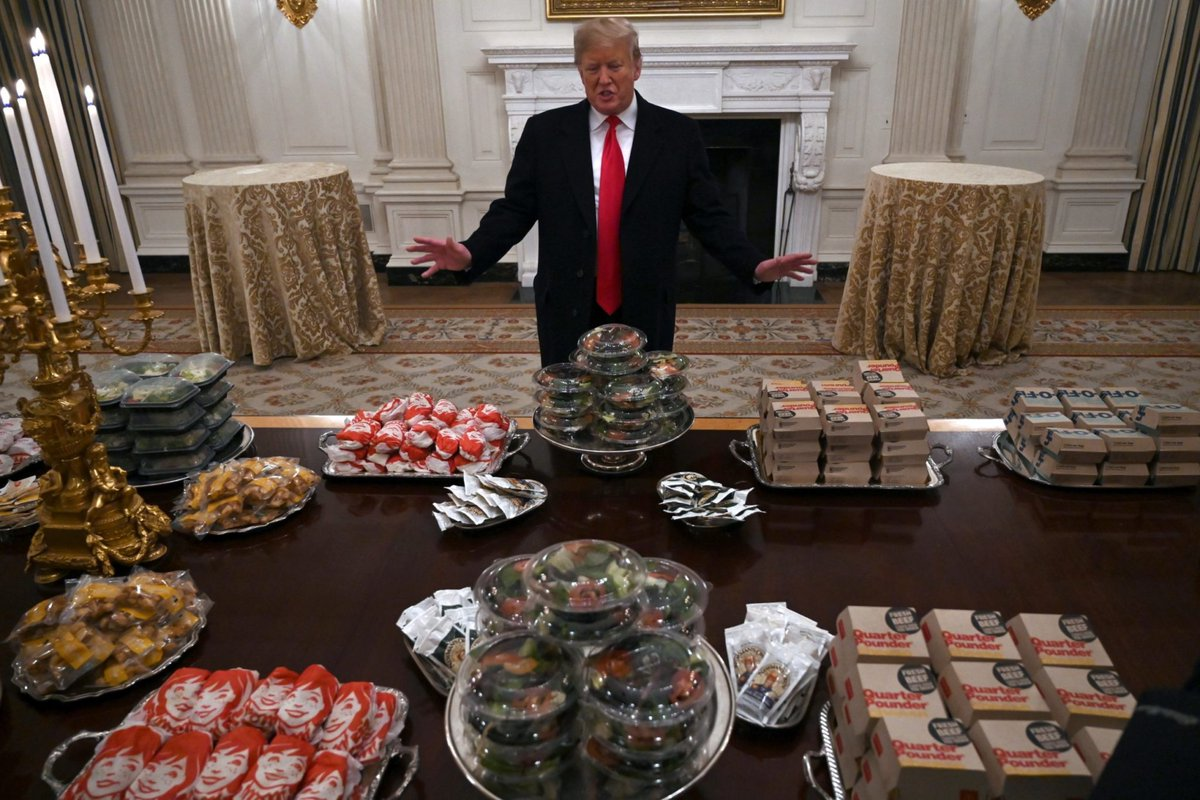 #ThingsImGonnaMissAboutTrump When he bought a college sports team that FO FO FO for the White House dinner. 😂