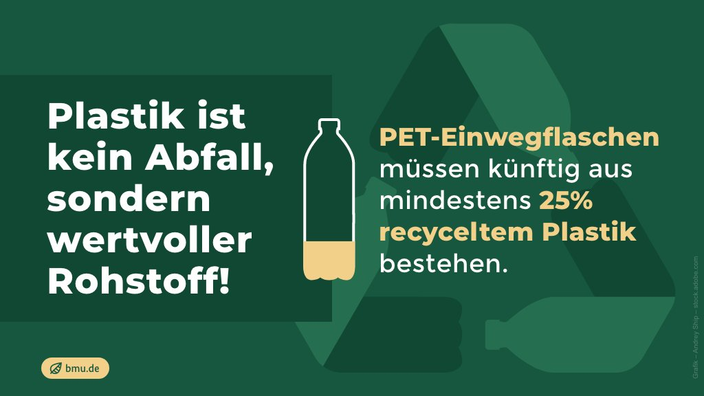 Die Verwendung recycelten Kunststoffs spart außerdem bis zu 60% CO2 gegenüber Neumaterial ein. Hochwertiges Kunststoffrecycling ist ein zentraler Baustein der #Kreislaufwirtschaft der Zukunft!