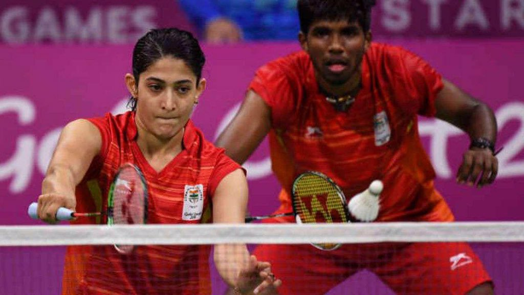 Our #TOPSAthlete Mixed Doubles duo of @satwiksairaj and @P9Ashwini beat World #17 German pair Mark Lamfuss and Isabel Herttrich 22-20, 14-21, 21-16 to reach the quarterfinals of the #ToyotaThailandOpen. They will play 5th seeds Chan Peng Soon and Goh Liu Ying next. @KirenRijiju