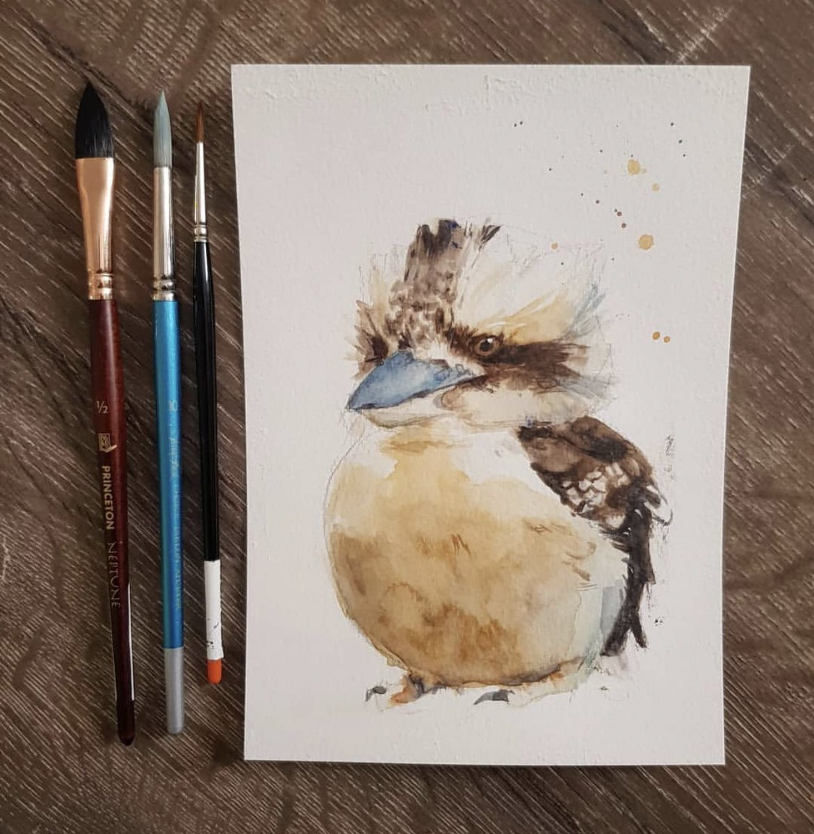 #tbt to this old kookaburra piece #watercolor #watercolour #australianartist #throwback