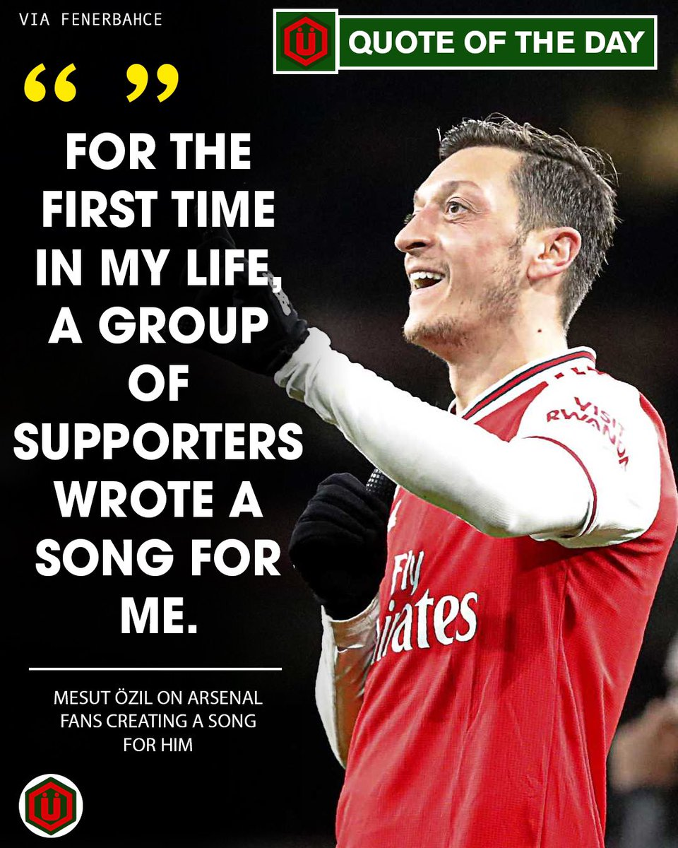🗣 QUOTE OF THE DAY 🗣  'We've got Özil, Mesut Özil, I just don't think you understand, he's Arsène Wenger's man, he's better than Zidane, we've got Mesut Özil!!' 🎶  Double tap if you're gonna miss watching Mesut in red & white.. 〽️😥❤️