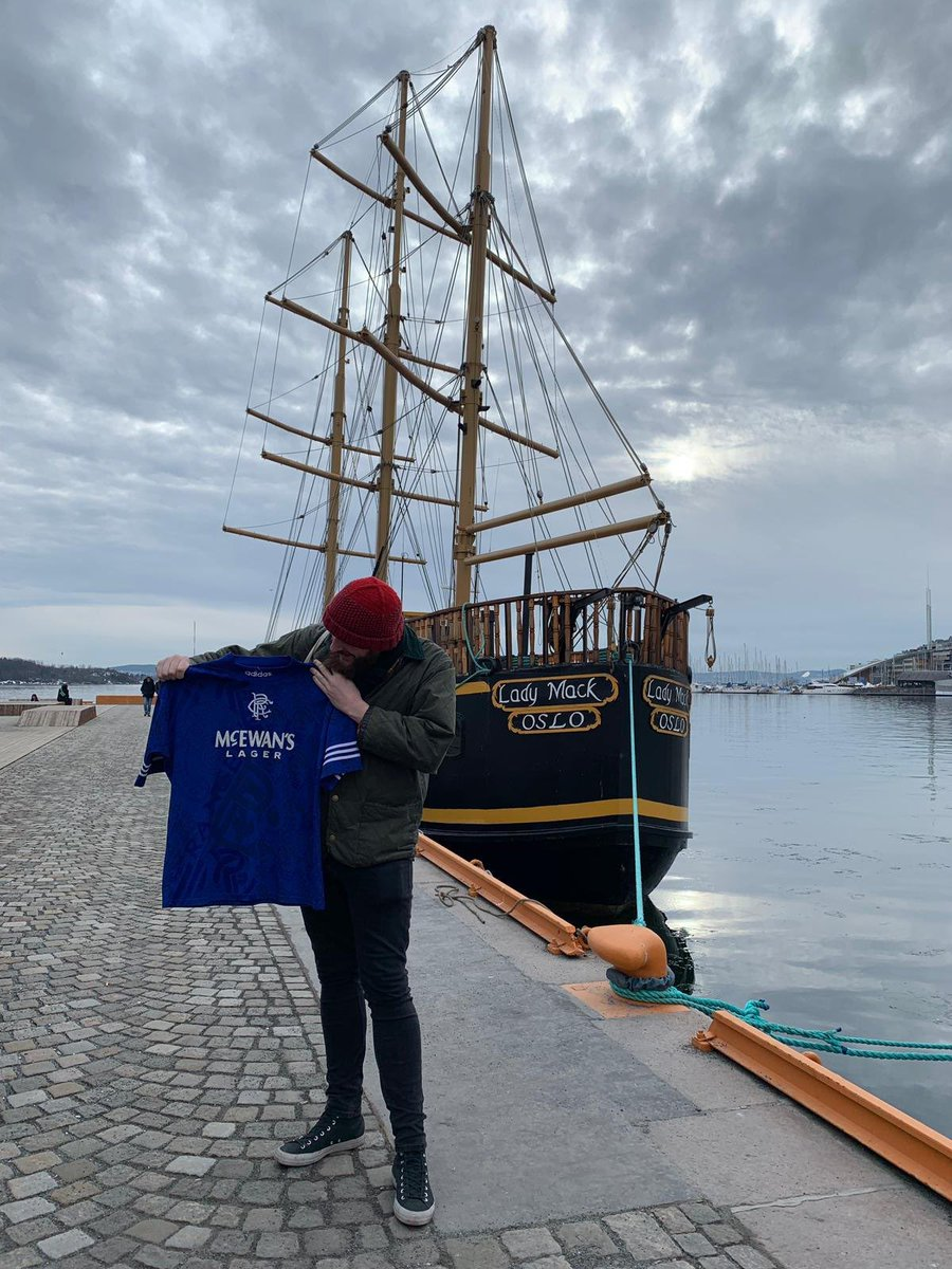 "#TBT   ""Travel is where the heart is""  Travelling and finding treasures. I found this classic Rangers shirt whilst in Norway 🇳🇴.   We just want to travel again 😢   #nowaste ♻️"