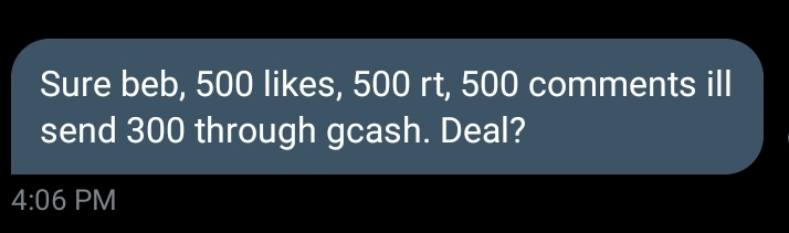Hello EVERYONE please help me with my rt deal THIS IS FOR 300 PESOS TO BUY MYSELF A TREASURE EFFECT KIT   Please help me RT LIKE AND if it's okay for you please help me spam the comment section with (IF EVER THERE ARE TAGS) TAGS   GODBLESS  GOAL  500 RTS,LIKES, COMMENTS  SAT 5PM