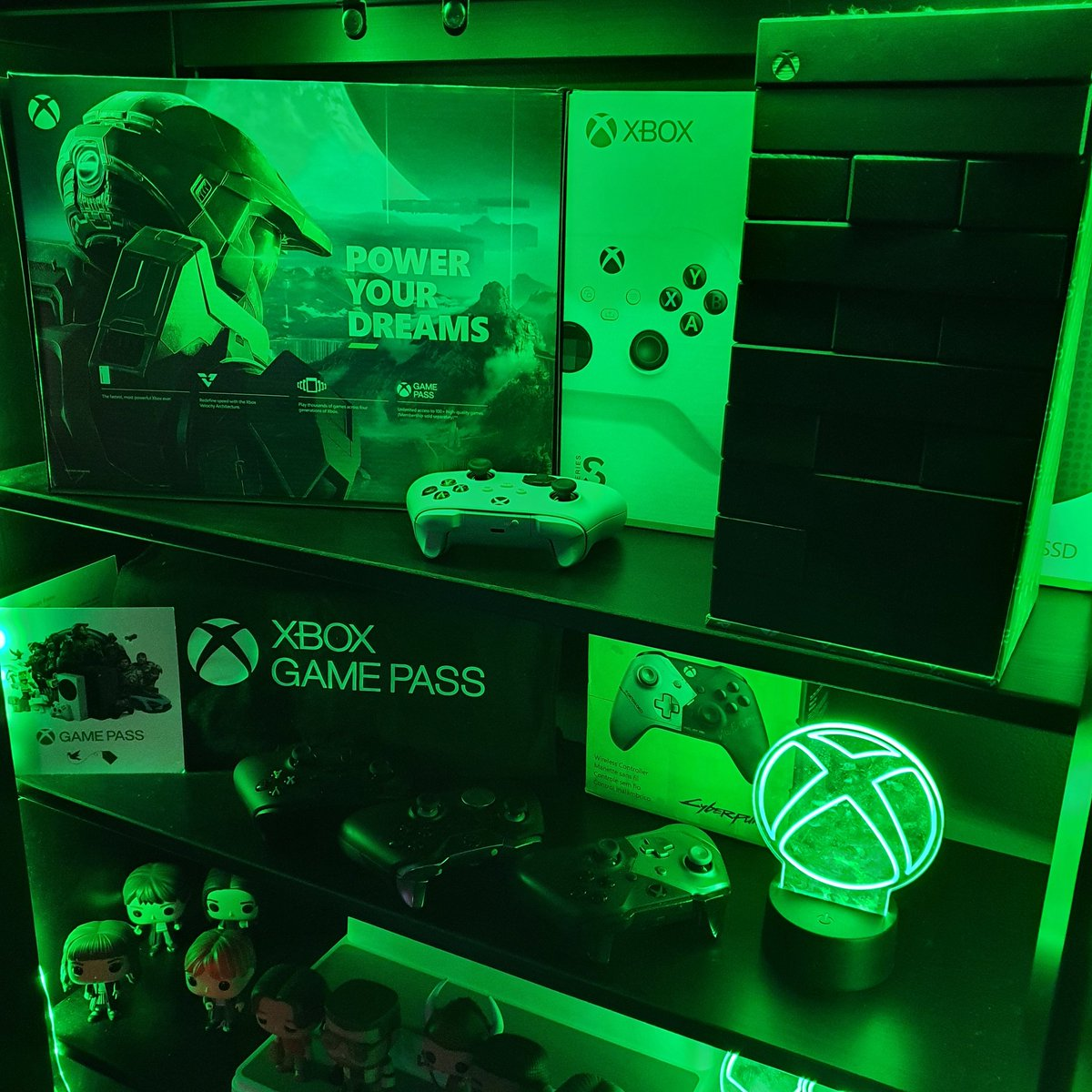 Reorganising the studio.  Of course @xbox has it's own special place!  #PowerYourDreams