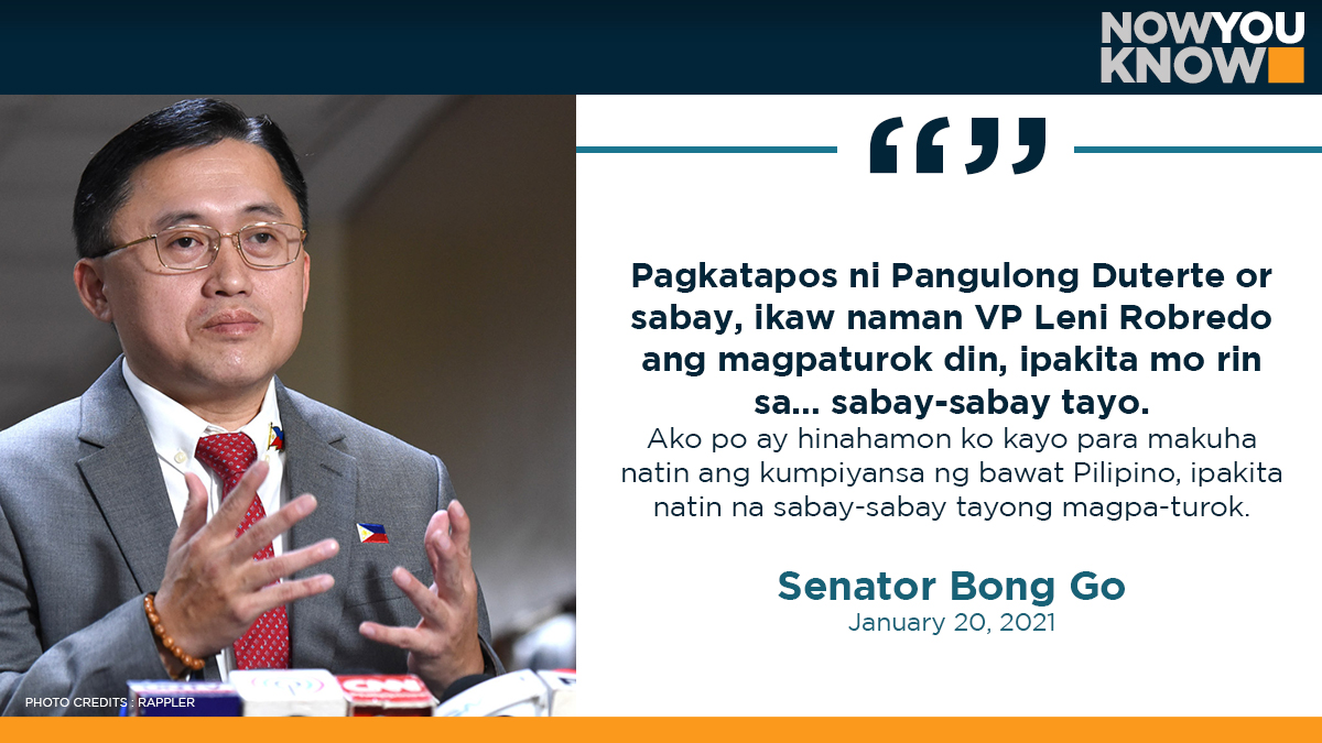 Vice President Leni Robredo has been challenged by Senator Bong Go to have herself immunized against the 2019 novel coronavirus disease to stimulate public's trust in the vaccines. READ: bit.ly/3o3PCWW 📰 Inquirer.net