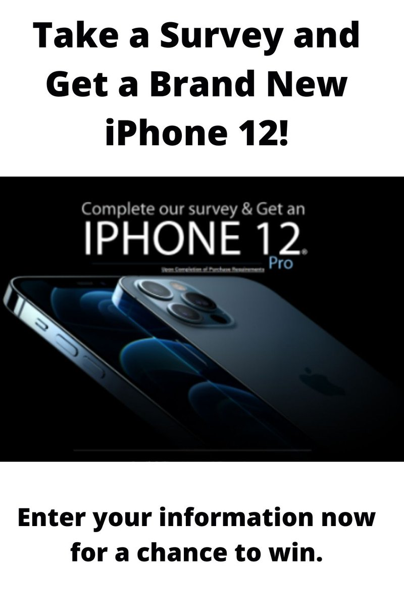 Take a Survey and Get a Brand New iPhone 12! #BernieSander #Paris #jojo siwa #Cavs #ThingsImGonnaMissAboutTrump #Katy Perry #pauline #Pittsburgh Enter your information now for a chance to win. If you interested this offer then hit this link:
