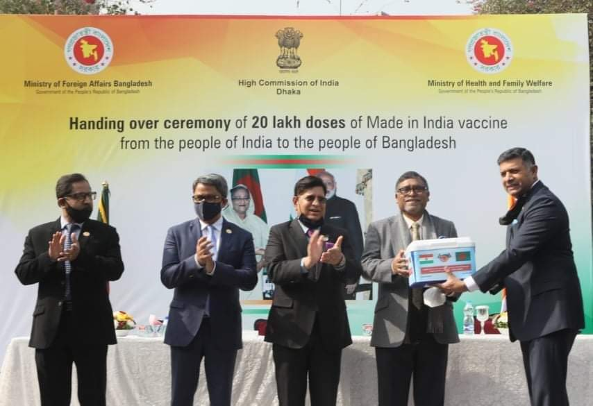 Consignments of COVID-19 vaccines from India reach Bangladesh and Nepal