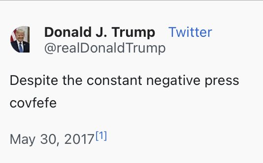 I'm gonna miss his covfefe🙏🏻 #ThingsImGonnaMissAboutTrump