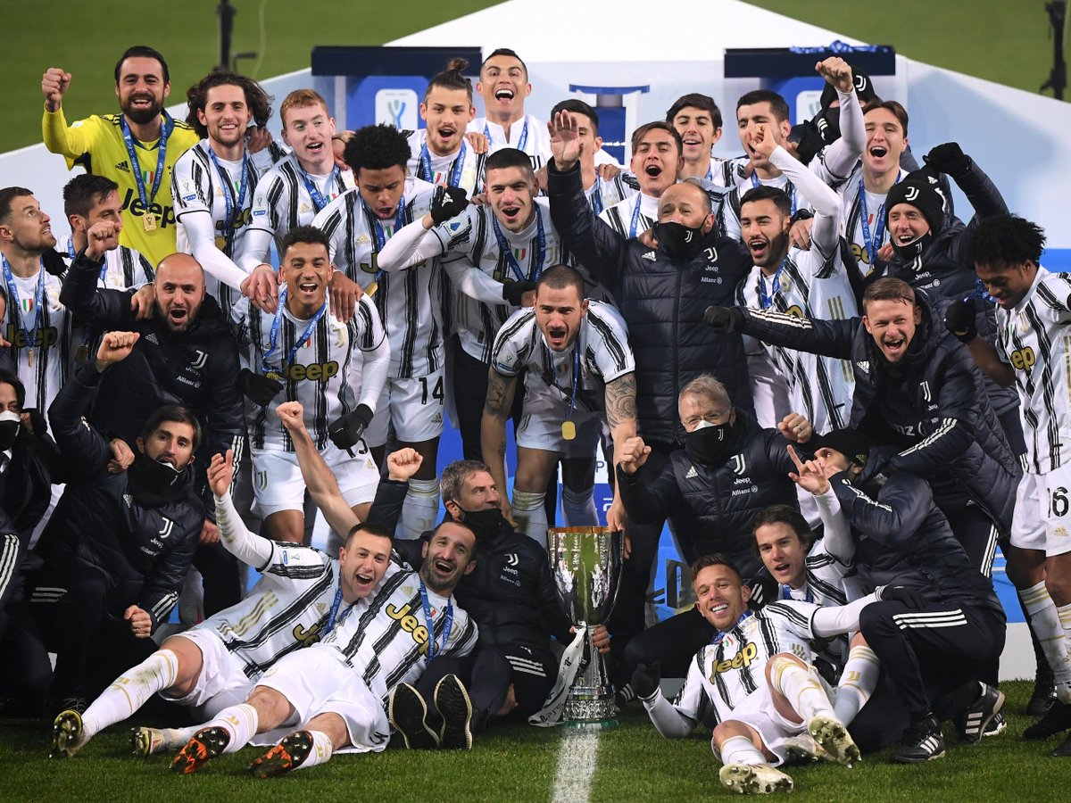 Cristiano Ronaldo and Morata scored to secure the Italian Super Cup for Juventus. Pirlo also wins his first trophy as a Manager. Can he win the Serie A?  Bet Now Play here👉  Join here👉   #Betyetu #LIVBUR #Lazio #Messi #Martial