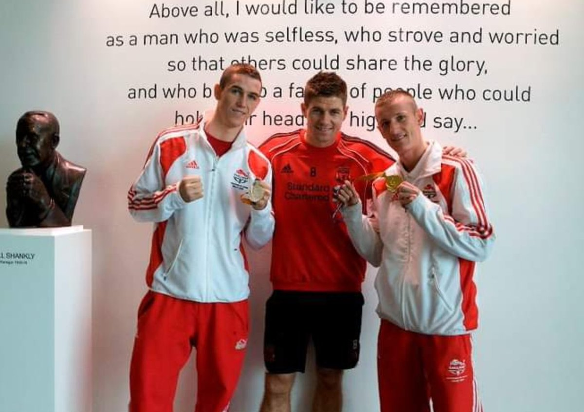 Replying to @ThomasStalker1: #TBT With two of our city's finest at Melwood after the Commonwealth Games ❤️