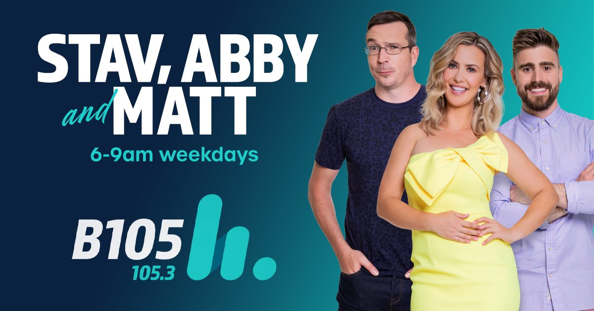 Waking up with Stav, Abby and Matt on @B105Breakfast   means rolling over and hearing exactly what you need to know every morning. Together they are one big breakfast feast of fantastic!  Get that feeling 6-9am weekdays on @b105_brisbane https://t.co/m9I3S9ZXNc