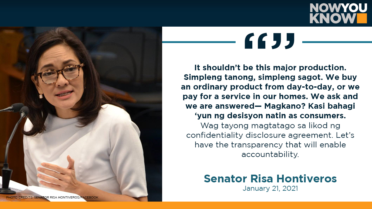 Some senators said they would still push for further details, including the exact cost, of China's Sinovac vaccine when the chamber resumes its inquiry on Friday. READ: bit.ly/3o1eT4g 📰 CNN Philippines