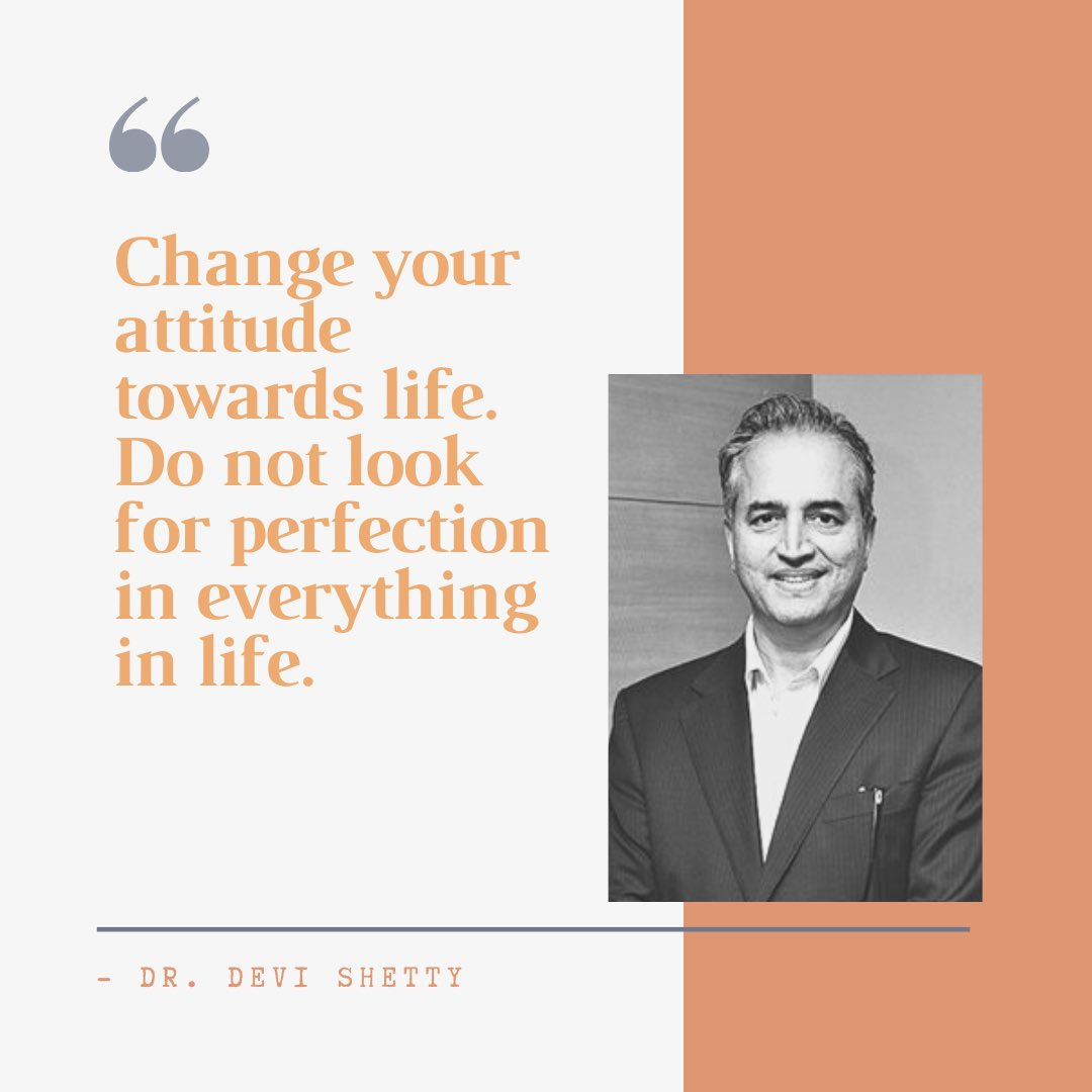 #GetInspired by our next Baatcheet Atithi, Dr. Devi Shetty.  #baatcheet #inspirationalquotes #inspiringquotes #quotestoliveby #lifequotes