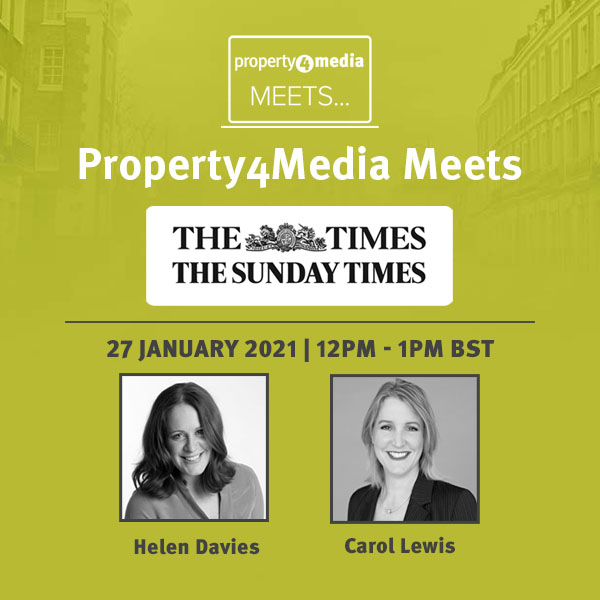 🏠 Join our Exclusive Hour with The Times & The Sunday Times in our latest Property4Media webinar.  🗓️ 12-1pm | Weds 27 Jan 2021).  ▶️ Register:   @TheTimes @TheSundayTimes #Journorequest #Property #RealEstate #InteriorDesign @CarolLewis101 @TheSTHome