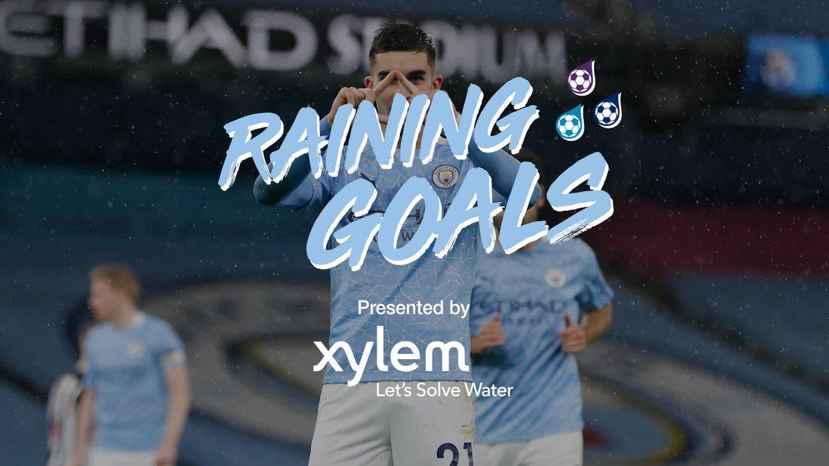 Let it rain with beautiful goals! ⚽️☔️  💧 @XylemInc  🔷 #ManCity |