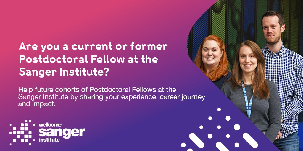 Help us, help you! Did you do a postdoc @sangerinstitute? Tell us what you are up to now, and help us understand the careers you chose after Sanger #ReimagineResearch.