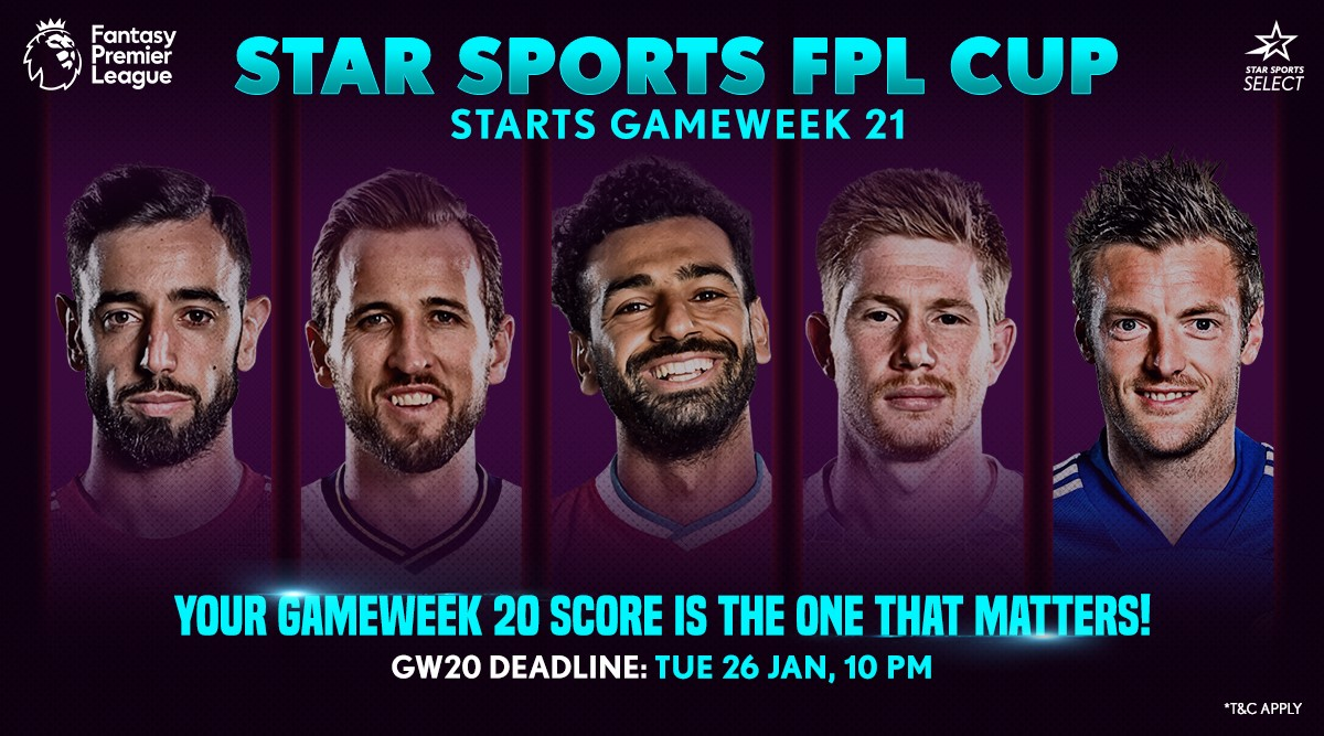 🔜 𝐒𝐓𝐀𝐑 𝐒𝐏𝐎𝐑𝐓𝐒 𝐅𝐏𝐋 𝐂𝐔𝐏   Here's another reason to play @OfficialFPL this season. Make your team before GW20 and you could be in with a chance to qualify for 🇮🇳 FPL Cup   #FPL