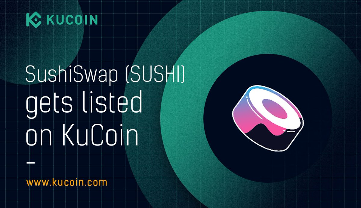 🍣 $SUSHI trading is now live! SUSHI/USDT ➡️ https://t.co/CfBecRXWVF Find out more about $SUSHI in the #KuCoinCryptoGem card