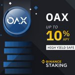 Image for the Tweet beginning: #Binance Staking Launches $OAX @OAX_Foundation
