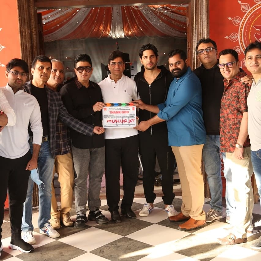 Lights. Camera. Action. 📷🎥 The shoot for #ThankGod begins today in Mumbai!   Sidharth Malhotra Rakul Preet Indra Kumar #BhushanKumar @ajaydevgn #KrishanKumar #AshokThakeria Deepak Mukut Sunir Kheterpal #AnandPandit Markand Adhikari #AnandPandit #BaluMunnangi Films T-Series