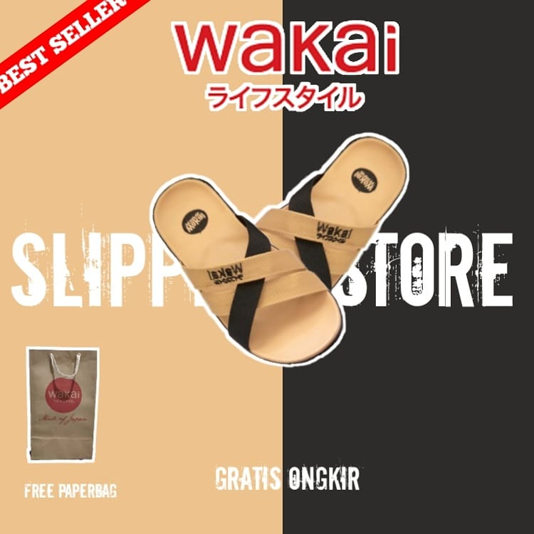 Sandal Wakai Tali Silang Mocca Hitam Size : 39,40,41,42,43 Price : IDR 49.000 Free Ongkir All Region  Cash On Delivery Payment only on  Tokopedia :  Shopee :   Happy shopping :) #wakaisandals #sandals #sendaldistro