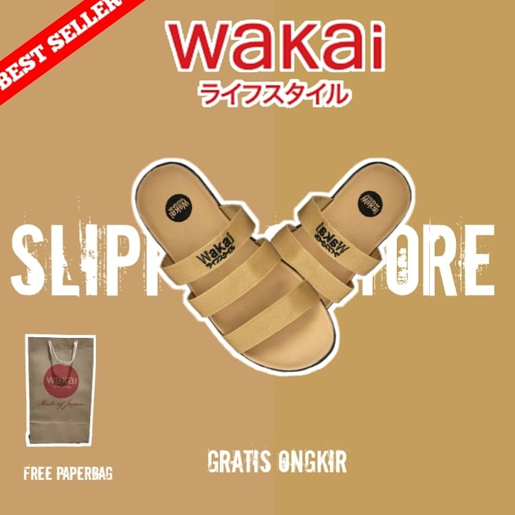 Sandal Wakai Band 3 Full Mocca Size : 39,40,41,42,43 Price : IDR 49.000 Free Ongkir All Region  Cash On Delivery Payment only on  Tokopedia :  Shopee :   Happy shopping :) #wakaisandals #sandals #sendaldistro