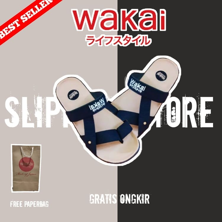 Sandal Wakai Wiro Putih Hitam Size : 39,40,41,42,43 Price : IDR 49.000 Free Ongkir All Region  Cash On Delivery Payment only on  Tokopedia :  Shopee :   Happy shopping :) #wakaisandals #sandals #sendaldistro